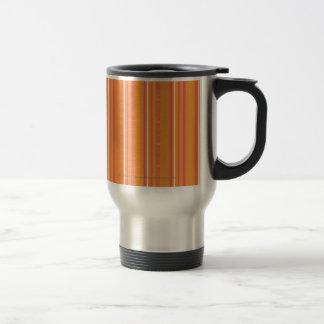 Gör orange randar tunnare rostfritt stål resemugg