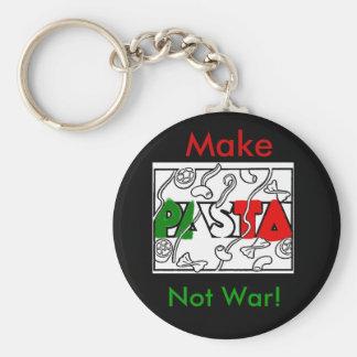 Gör pasta att inte kriga! rund nyckelring