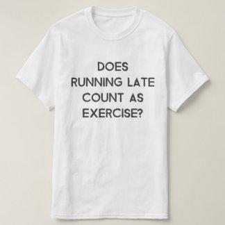 Gör sen räkning för spring som övar tee shirts
