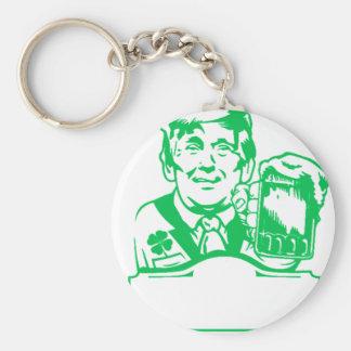gör st patricks dayunderbaren igen att göra grön rund nyckelring