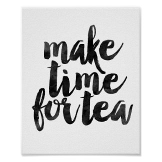 Gör Time för Tea Poster