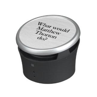 gör, vad skulle matthew thorton bluetooth högtalare
