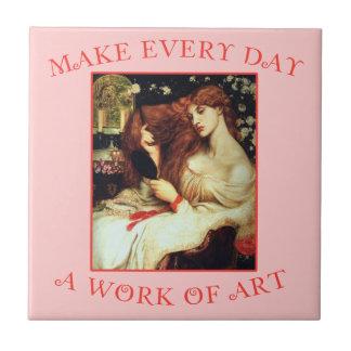Gör varje dag ett konstverk Rosetti Kakelplatta
