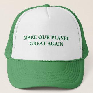 Gör vårt planet underbart igen truckerkeps