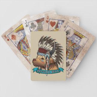 Göra full av hål tjuren spelkort