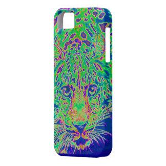 göra grön, blått- och lilafodral för leopardiphone iPhone 5 fodral