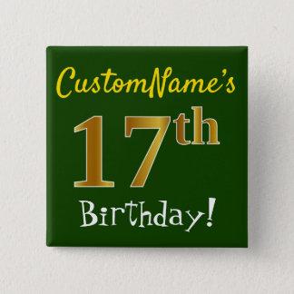 Göra grön den 17th födelsedagen för Fauxguld, med Standard Kanpp Fyrkantig 5.1 Cm