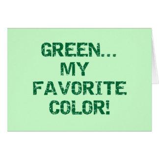 Göra grön min favorit- färgT-tröja och gåvor Hälsningskort