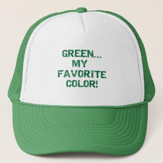 Göra grön min favorit- färgT-tröja och gåvor Truckerkeps