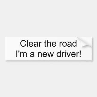Göra klar vägen mig förmiddagen en ny chaufför! bildekal
