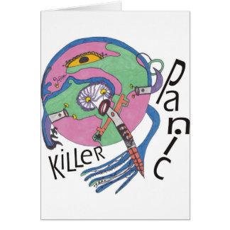 Göra panikslagen mördare hälsningskort