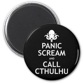Göra panikslagen skriet och appellen Cthulhu Kylskåpmagneter
