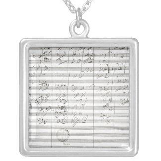 Göra poäng för den 3rd rörelsen av den 5th symfoni silverpläterat halsband