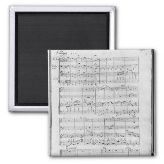Göra poäng för trio för piano, fiol och violoncell magnet