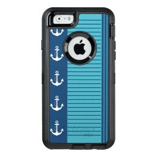 Göra randig och ankra den moderiktiga nautiska OtterBox defender iPhone skal