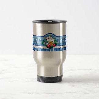 Göra strimmig den dobbelpendlaren/travel mug rostfritt stål resemugg