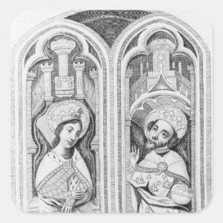 Göra till drottning Eleanor och Henry III som tas Fyrkantigt Klistermärke