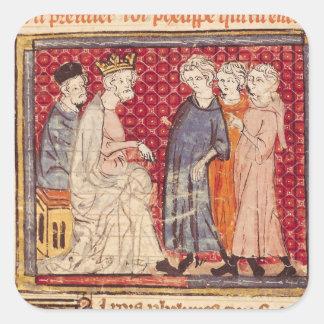 Göra till kung Philippe mig, Grandes Chroniques de Fyrkantigt Klistermärke