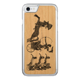 Göra till kung trä för iPhonen för konst för Carved iPhone 7 Skal
