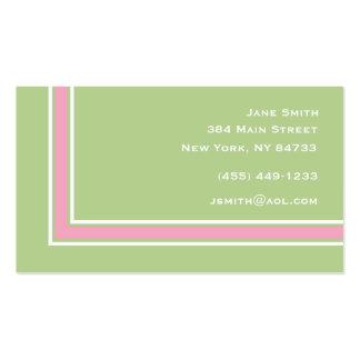 Görad randig elegant set av standard visitkort