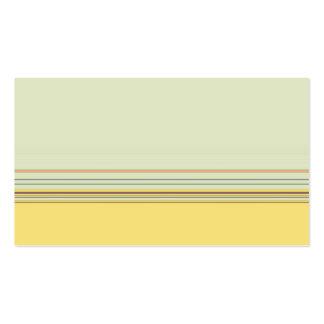 Görad randig enkel vågrät - gult och grönt set av standard visitkort