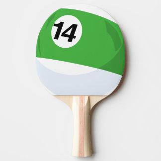 Görad randig grönt för Billiardbollnr. 14 Pingisracket