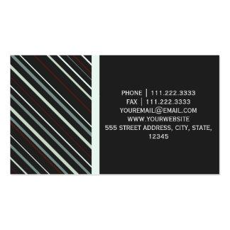 Görad randig modern Diagonal Set Av Standard Visitkort