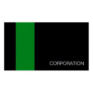 Görad randig och svart modern visitkort för grönt