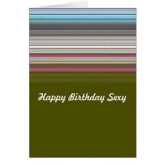 Görad randig sexig grattis på födelsedagen hälsningskort