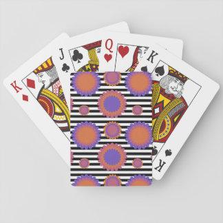 Görad randig svart vit för casinokort