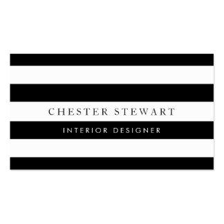 Görad randig svart vit för elegant - enkel set av standard visitkort