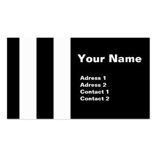 Görad randig svart vit - visitkortar visit kort