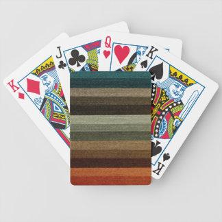 Görade randig mönster för vintage tonar den varma spelkort