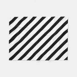 Görade randig (svart- & för vit | Diagonal) några Fleecefilt