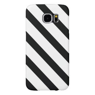 Görade randig (svart- & för vit | Diagonal) några Samsung Galaxy S6 Fodral