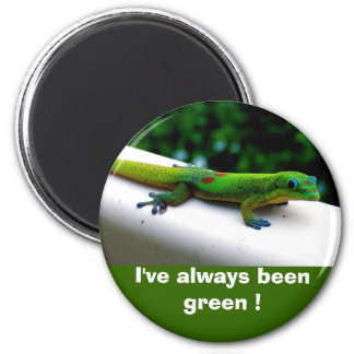 """""""Görar grön tänkan"""" beskydd Magnet Rund 5.7 Cm"""