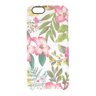Görar klar den tropiska blommigten iphone6 för clear iPhone 6/6S skal
