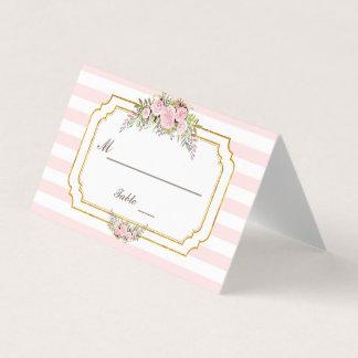 Görar randig den rodna rosan för romantiker den placeringskort