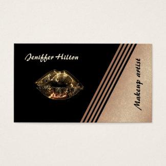 Görar randig rosa guld för eleganten metallisk visitkort