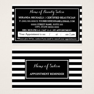 Görar randig svart vit för trendiget möte visitkort