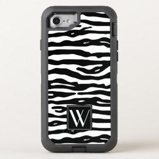 Görar randig svart vit för zebra tryck den OtterBox defender iPhone 7 skal