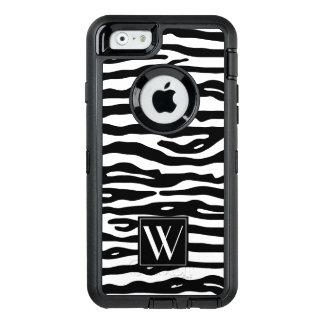 Görar randig svart vit för zebra tryck den OtterBox defender iPhone skal