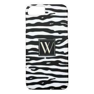 Görar randig svart vit för zebra tryck Monogrammed