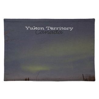 Görar strimmig av nordligt ljus; Yukon souvenir Bordstablett