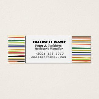 Görat randig färgrikt enkelt mönster för set av smala visitkort