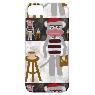 Görat randig mönster för Beatnik sock monkey iPhone 5 Case-Mate Skal