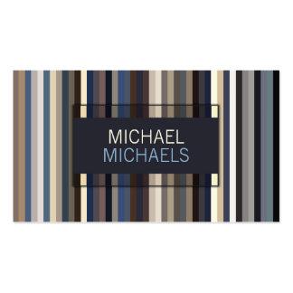 Görat randig mönster för elegant deppighet set av standard visitkort