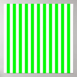 Görat randig mönster för limefrukt grönt poster