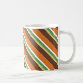 görat randig tema för 70-talmodfärg kaffemugg