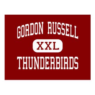 Gordon Russell - Thunderbirds - mittet - Gresham Vykort